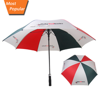 Best selling many color straight golf umbrella wholesale