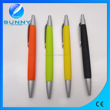 cheap plastic ball pen,rubber grip ball pen for promotional gifts