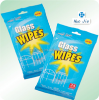 Wet wipe for glass,cleaning non woven wet wipe