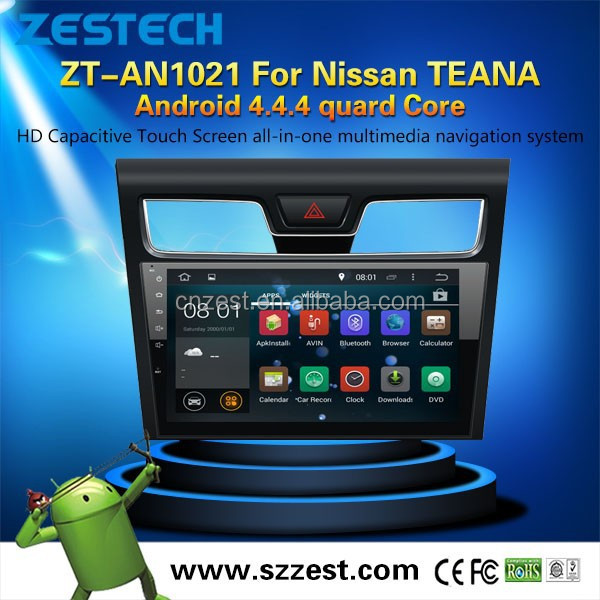 new dvd car player For Nissan TEANA android 4.4.4 up to 5.1MCU 1.6G 4 core 3g wifi OBDII