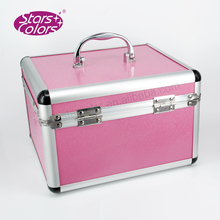 2017 New Professional Aluminum Rolling Cosmetic Makeup Case