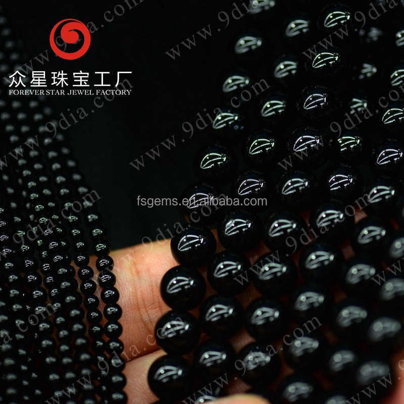 Wholesale Natural Stone Black Onyx Gem Stone Bead Onyx Stone