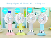 Top Sale Strong Wind Giveway Mini USB Power Bank Fan for smart phone