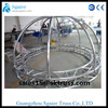 aluminum flat circular truss with arch roof truss for round truss stage