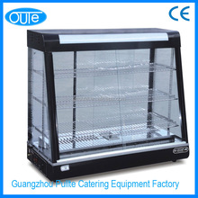 Guangzhou Supplier Curved Glass Food Warming Display Hot Case