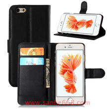 Factory Bulk PU Leather Wallet Flip Cell Phone Case for iPhone 5 5S SE 6 6S