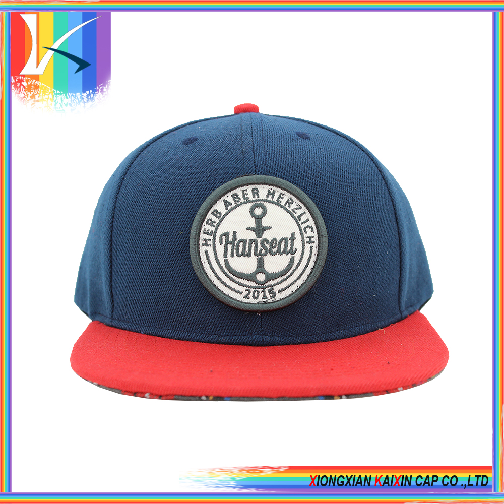 2016 OEM ODM Custom Snapback Caps Embroidery Patch Logo Acrylic Cheap Snapback Caps Hats Wholesale