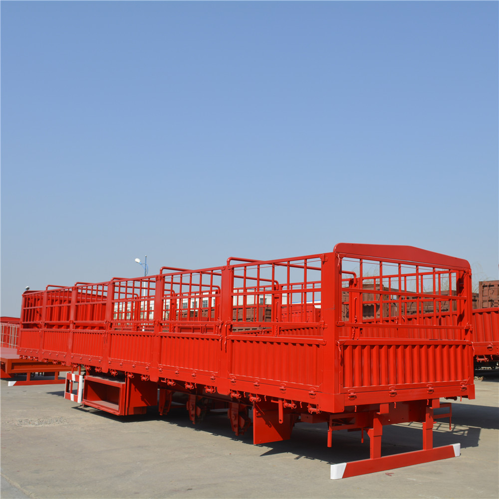 Tri axle heavy duty double deck fence trailer