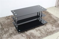 living room furniture glass LCD tv table design