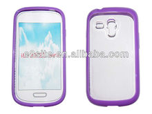 For SamSung i8190 Galaxy S3 Mini Clear TPU+PC Frame Case