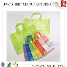 colorful super clear plastic pvc soft film for gift wrap
