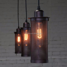 Industrial decorative mini metal lamp shades lowes hanging led pendant light chandelier import from china
