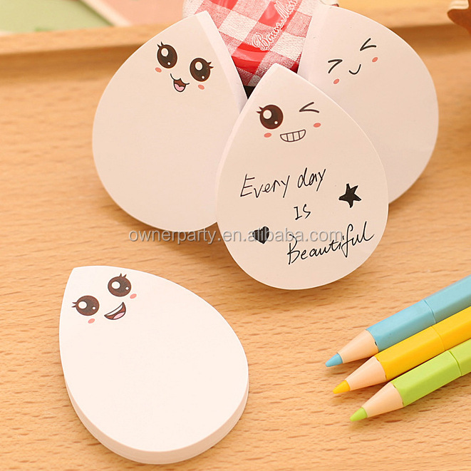New design combination hart memo pad shape printed cheap custom sticky notes