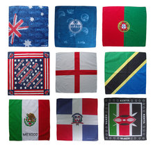 Square cotton custom country flag bandana