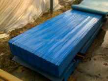Pre painted aluzinc corrugated steel tile for wall with film cover