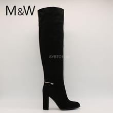 Best selling ladies fashion shoe factory china supplier middle heel boots