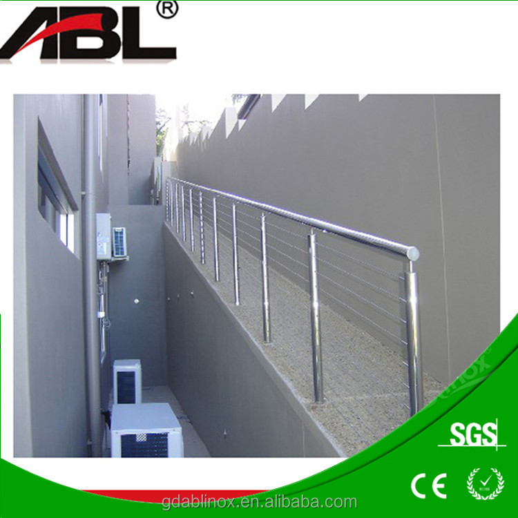 Modern interior/exterior glass panel deck railing system for airport