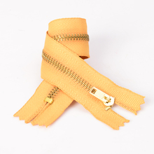 Pin Lock #3 Brass Closed End Zippers for Jeans