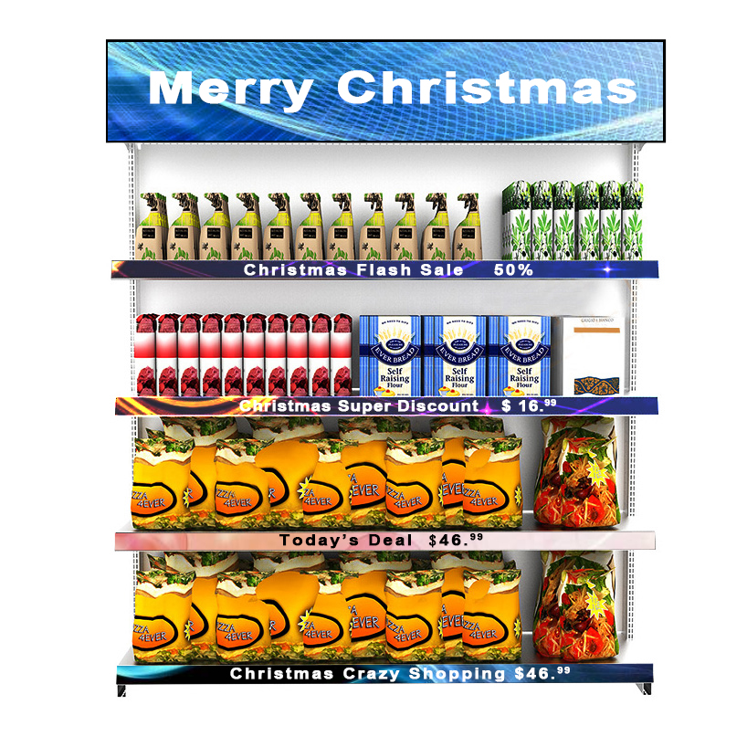 COB P1.875 900*60mm Price <strong>LED</strong> Shelf <strong>Display</strong> for Supermarket