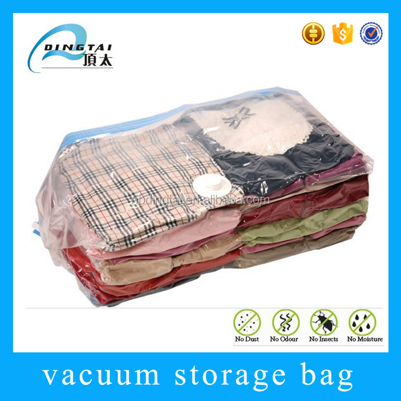 Jumbo reusable plastic cube vacuum packaging bag