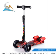 2018 wholesale folding three wheel kids scooter