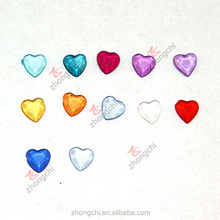 Acrylic heart charms, locket heart charms colorful in fashion