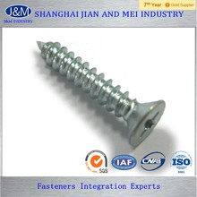 4mm plated zinc din 7976 self tapping screw