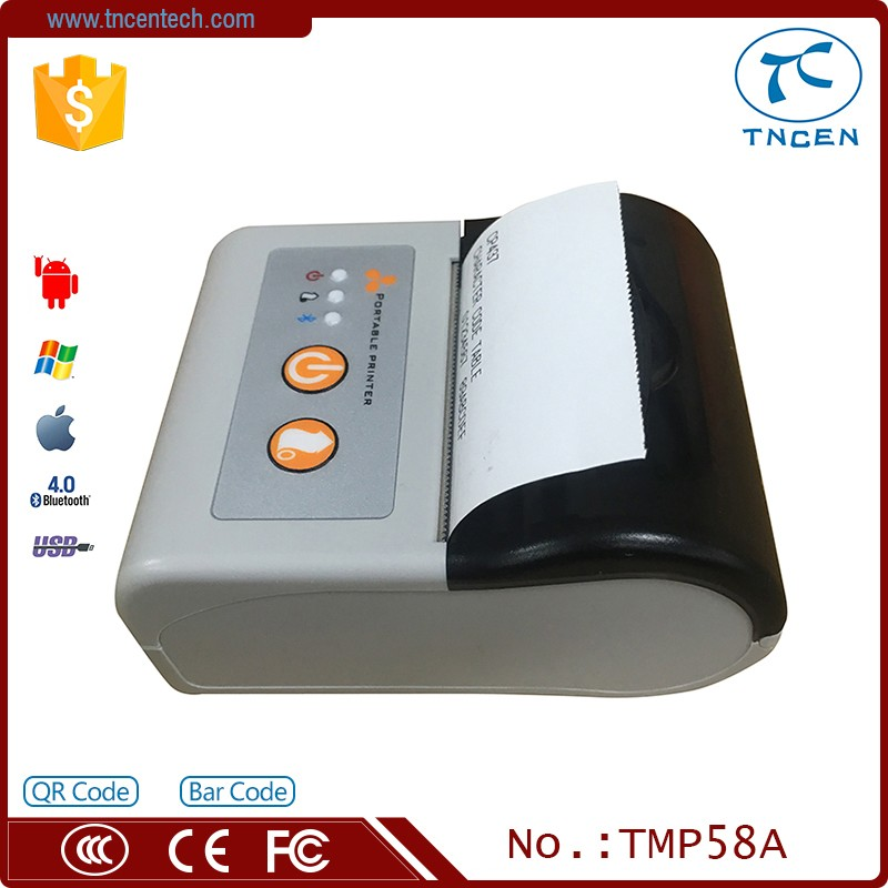 58mm Thermal Andriod wif Bluetooth Mobile Receipt Printer Caysn P58A TMP58A