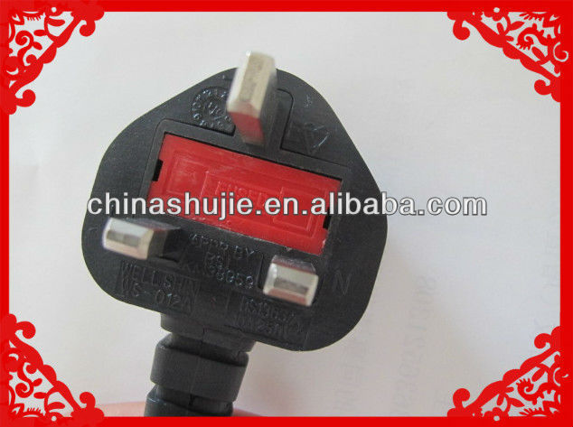 3 pin UK Power Cord 13A 230V Electrical Plug