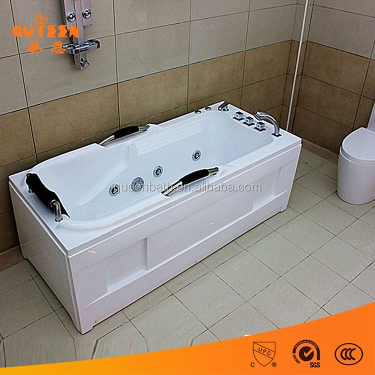 Acrylic simple type one piece large plastic bath tub for fat adults
