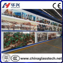 CE&CCC&ISO Tempered Glass Pattern Customized Decorative Glass Wall Art