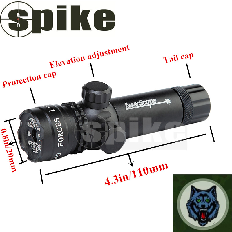 Spike Tactical Green Laser Sight with Rail Mount Green Laser Sight for Quick Focus Laser Sight for Rifle