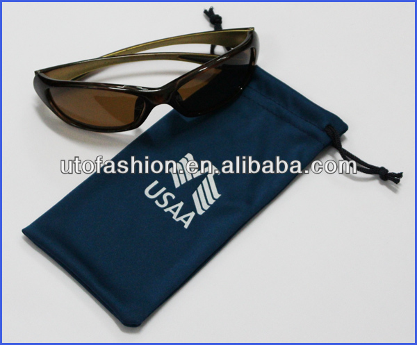 YT2006 Custom Soft Sunglasses and Glasses Spectacle Pouch with strings
