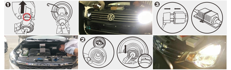 high quality fanless single beam car automotive accessories led headlight h7