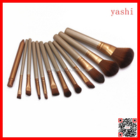 YASHI new style women's cosmetic naked 12pcs makeup tool kit brushes for 2016