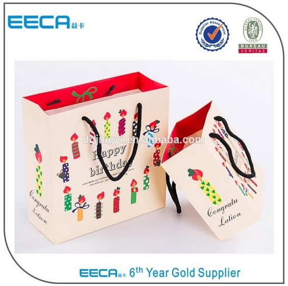 China wholesale paper reusable shopping bags with custom logo printed