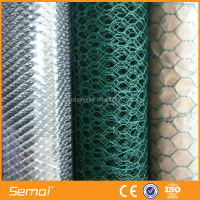 cheap gi and pvc coated hexagonal woven wire mesh(anping ISO 9001)