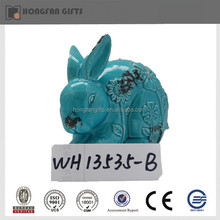 popular easter ceramic rabbit ornament
