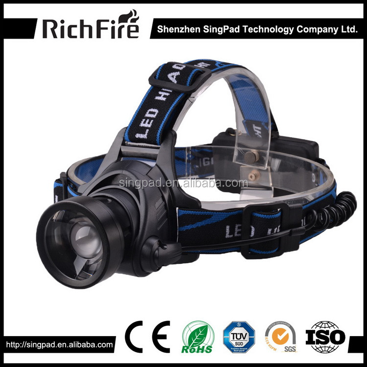 2016 hot sale 3-Mode rechargeable Telescopic miner headlamp White led head torch