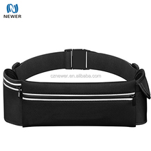 Waterproof Sweatproof Neoprene Running Belt with Two Expandable Storage Phone Pouch