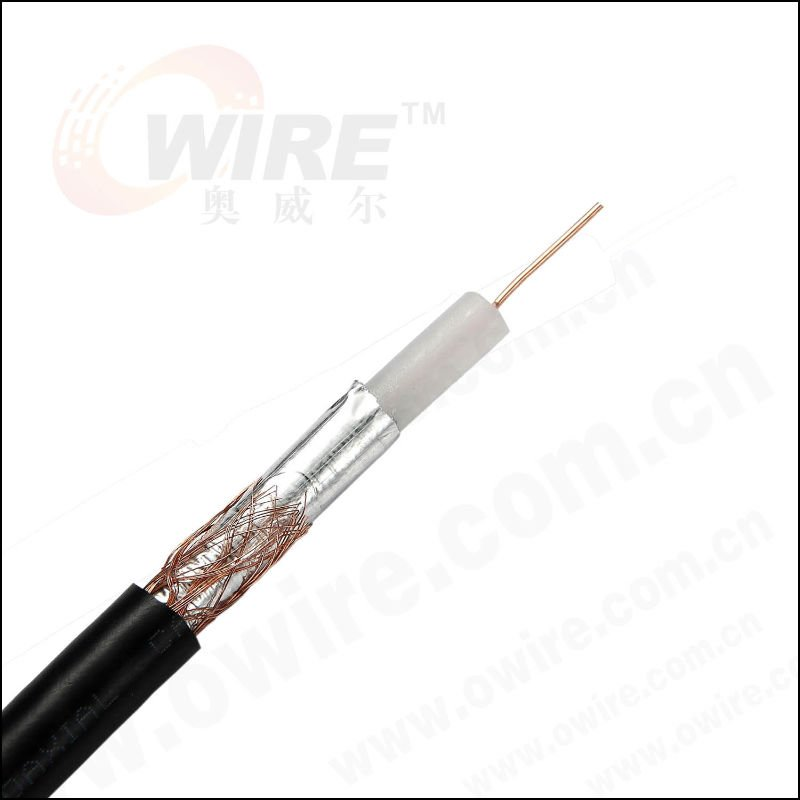 CATV Coaxial Cable with Shields, Suitable for Video and Signal Transmission System
