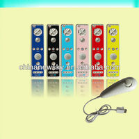 New arrival color remote controller with nunchunk for wii u remote controller
