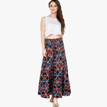 Ladies Multicolor Wide Leg Palazzo Pants