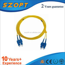 Factory supply best indoor/outdoor fiber patch cord OEM SC/UPC-SC/UPC SM SX PVC 2.0mm 1M Patch cord