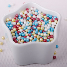 Edible Pearlized Pink Sugar Pearls