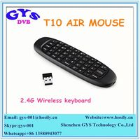 2.4g Mini Wireless Keyboard T10 air fly mouse for android tv box