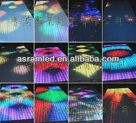 ali express 2014 Asram high technology LED video dance floor/tile stage display