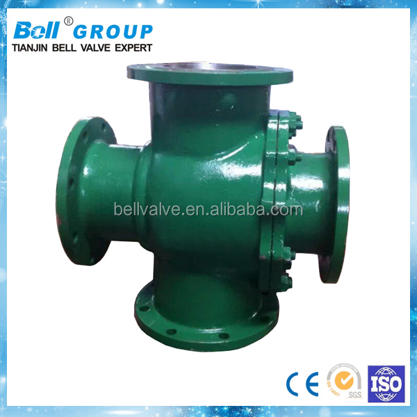 5 Inch Carbon Steel Flange Four Way Ball Valve