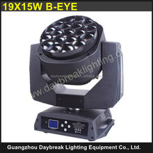 19x15W Bee eye LED Moving Head DJ Lights / B Eye k10 19x15 w stage lighting / Powercon connect design