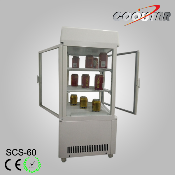 High quality and hot sale four glass display refrigerator showcase